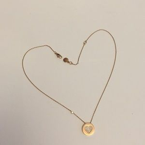 Michael Kors rose gold pendant necklace